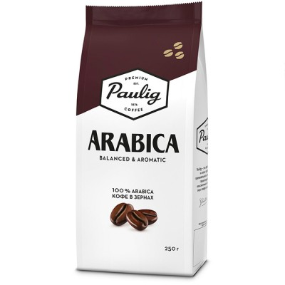 Кофе зерновой Paulig Arabica, 250гр