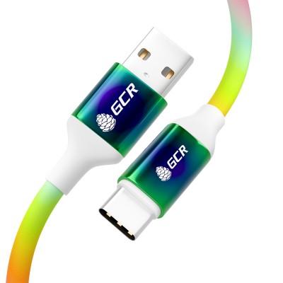 Кабель USB Type C GCR РАДУГА
