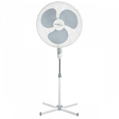 Вентилятор напольный SCARLETT SC-SF111B27, серый и белый